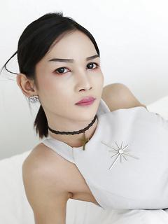 Very young asian met art models